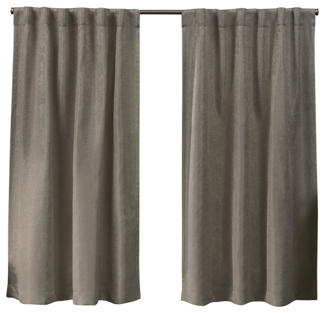 Lancaster Basketweave Blackout Hidden Tab Top Curtain Panel Pair, Latte,  52X63 Intended For Forest Hill Woven Blackout Grommet Top Curtain Panel Pairs (#32 of 45)
