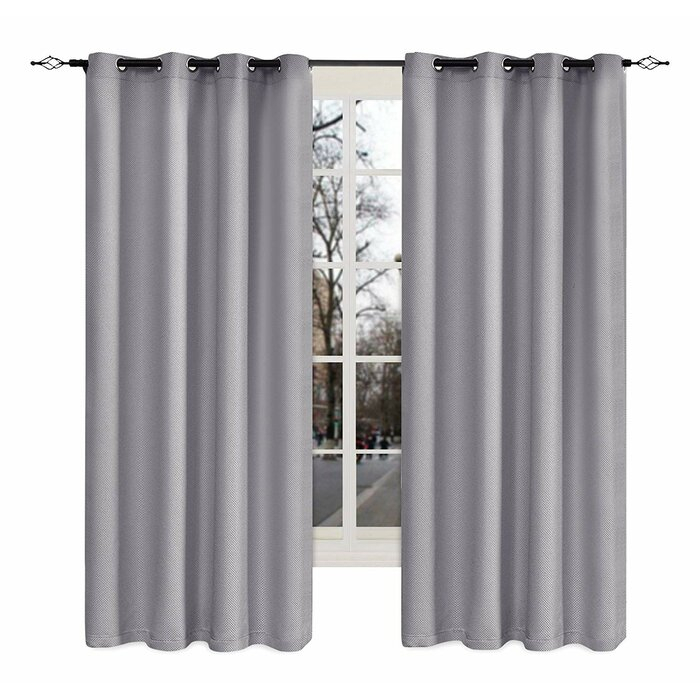 Inspiration about Larkins Weave Solid Blackout Grommet Curtain Panels For Blackout Grommet Curtain Panels (#36 of 40)