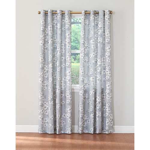 Inspiration about Laura Ashley® Iona Print Curtain Panel Regarding Grey Printed Curtain Panels (#17 of 48)