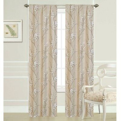 """Inspiration about Laura Ashley Pussy Willow Rod Pocket Panel Pair – Two 40"""" X 84"""" Panels 