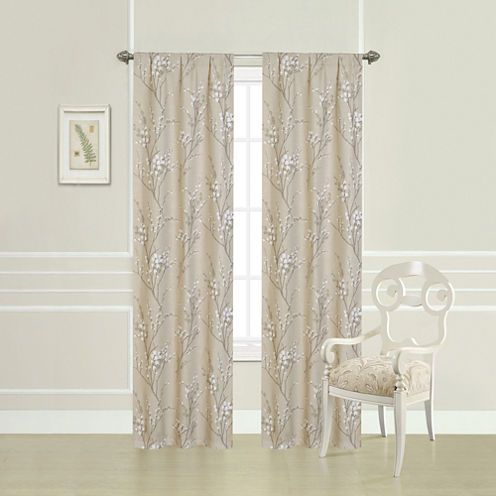Inspiration about Laura Ashley® Taupe Willow Printed Rod Pocket 2 Pack Curtain Throughout Willow Rod Pocket Window Curtain Panels (#15 of 46)