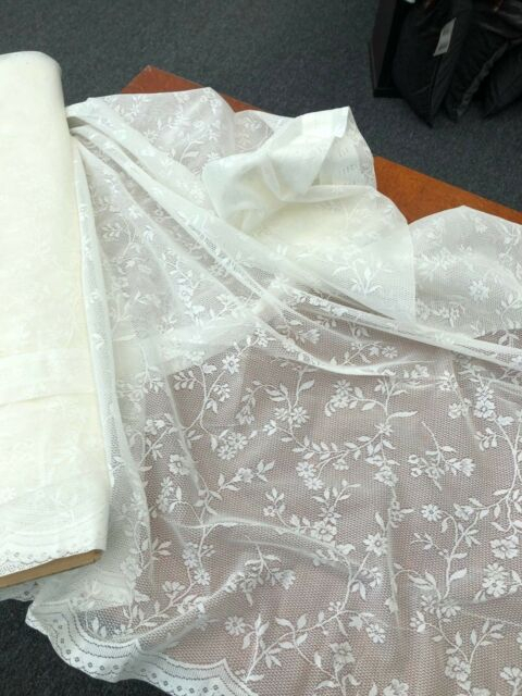 Laura Curtain Lace Ivory  160 Cm Drop Rod Pocket  Pretty Floral Sheer Lace Inside Alison Rod Pocket Lace Window Curtain Panels (View 24 of 44)