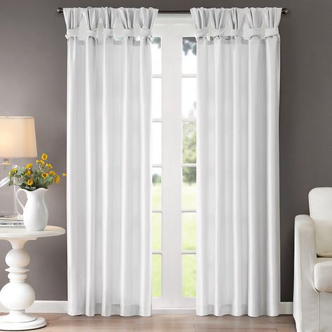 Inspiration about Laurel Creek Alice Twisted Tab Curtain Panel | Tab Curtains With Regard To Twisted Tab Lined Single Curtain Panels (#2 of 50)