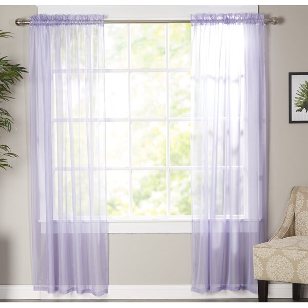 Lavender Sheer Curtains | Wayfair With Regard To Pairs To Go Victoria Voile Curtain Panel Pairs (#7 of 30)