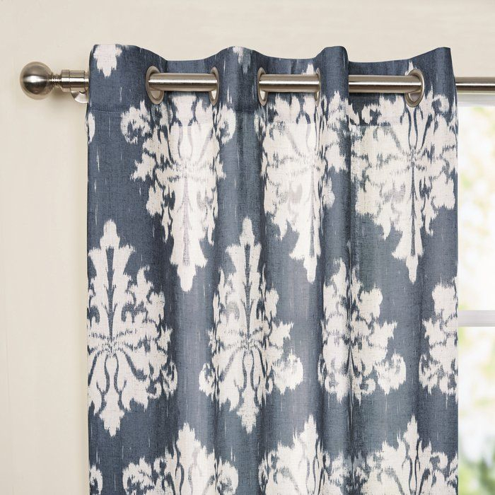 Inspiration about Lavonne Damask Grommet Curtain Panels | Decor Ideas In 2019 In Gray Barn Dogwood Floral Curtain Panel Pairs (#3 of 48)