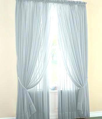 Layered Curtains Sheer Curtain Design Ideas Sheer Curtain Within Signature White Double Layer Sheer Curtain Panels (View 36 of 50)