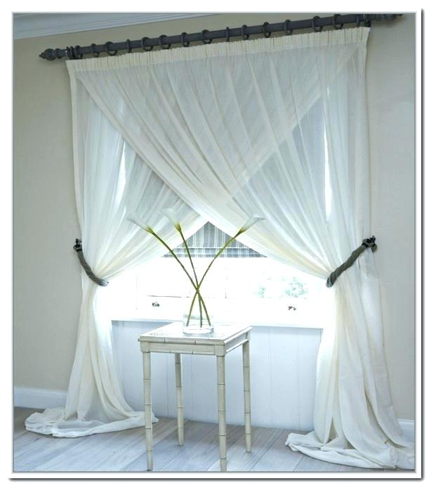 Layered Sheer Curtains – Cered Gl Regarding Signature White Double Layer Sheer Curtain Panels (View 10 of 50)