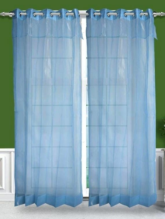 Inspiration about Layered Sheer Curtains – Eminsakir Inside Tulle Sheer With Attached Valance And Blackout 4 Piece Curtain Panel Pairs (#39 of 50)