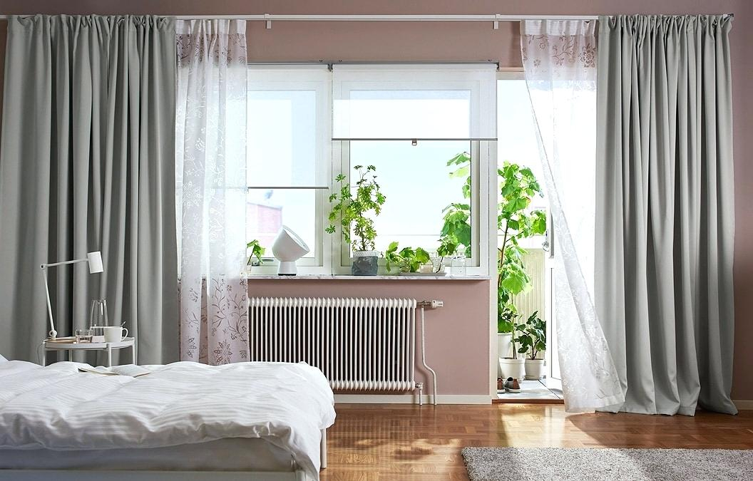 Inspiration about Layered Sheer Curtains Exclusive Fabrics Signature White Pertaining To Double Layer Sheer White Single Curtain Panels (#22 of 50)