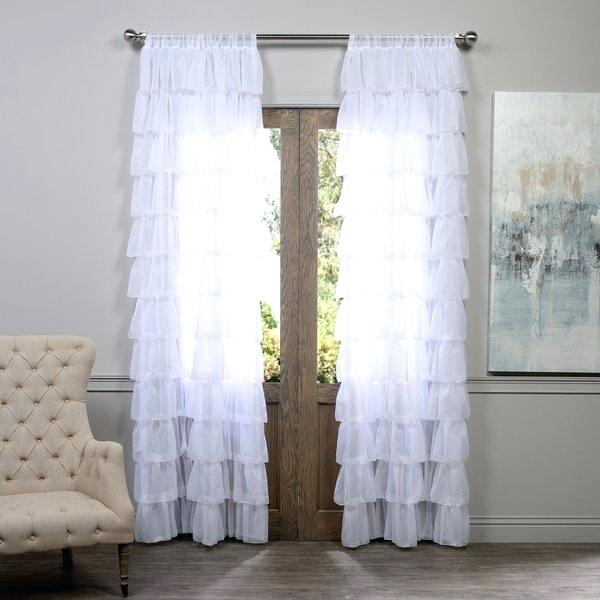 Layered Sheer Curtains – Trailwrestling Regarding Signature Extrawide Double Layer Sheer Curtain Panels (#34 of 50)