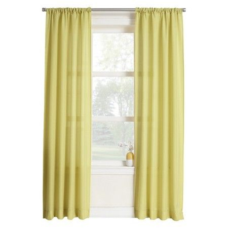 Layne Heathered Solid Curtain Panel : Target | Pre School Within Ladonna Rod Pocket Solid Semi Sheer Window Curtain Panels (View 8 of 47)