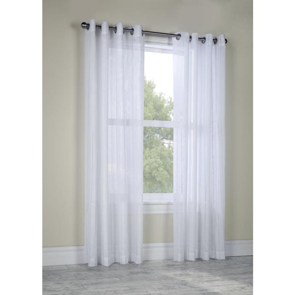 Legacy Broadway Grommet Curtain Panel 52 X 84, Colour White Within Grommet Curtain Panels (View 25 of 39)