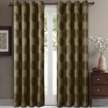 Lexington Pair (Set Of 2) Jacquard Grommet Room Darkening In Sugar Creek Grommet Top Loha Linen Window Curtain Panel Pairs (View 42 of 50)