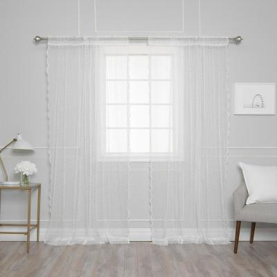Inspiration about Lichtenberg Sheer Ivory Alison Lace Curtain Panel, 58 In. W For Alison Rod Pocket Lace Window Curtain Panels (#7 of 44)