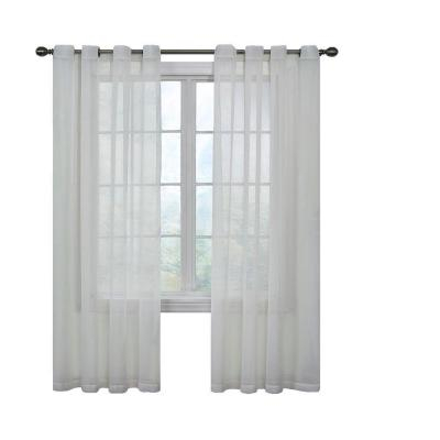 Inspiration about Lichtenberg Sheer White Alison Lace Curtain Panel, 58 In. W Throughout Alison Rod Pocket Lace Window Curtain Panels (#21 of 44)