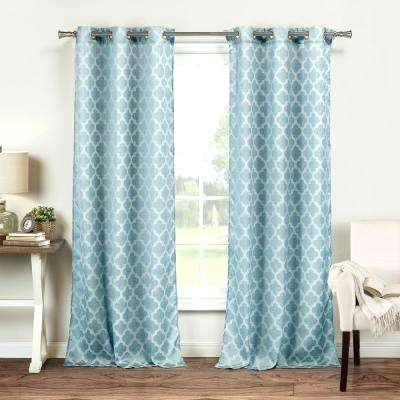 Inspiration about Light Blue Window Treatments – Barkandbite.co With Regard To Mecca Printed Cotton Single Curtain Panels (#41 of 50)