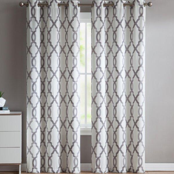 Light Grey Sheer Curtains | Wayfair Inside Oakdale Textured Linen Sheer Grommet Top Curtain Panel Pairs (View 12 of 41)