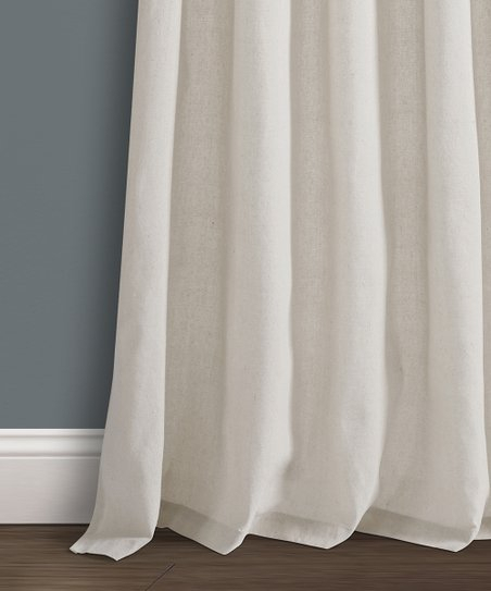 Light Linen Knot Top Burlap Curtain Panel | Zulily Within Knotted Tab Top Window Curtain Panel Pairs (#17 of 50)