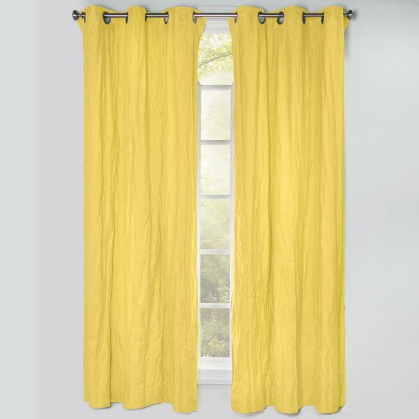 Light Yellow Blackout Curtains | Wayfair Within Hayden Grommet Blackout Single Curtain Panels (View 19 of 39)