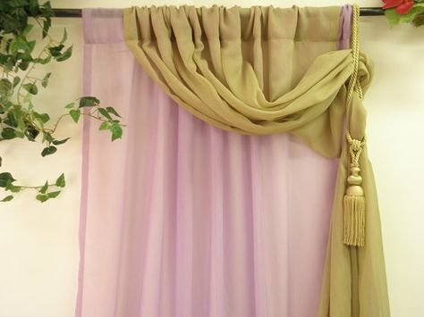 Lilac And Olive Green Double Layer Semi Sheer Curtain Pertaining To Signature Extrawide Double Layer Sheer Curtain Panels (#36 of 50)