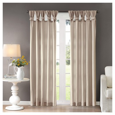"Inspiration about Lillian Twisted Tab Lined Curtain Panel Ivory 50""x95"", Size Regarding Twisted Tab Lined Single Curtain Panels (#6 of 50)"