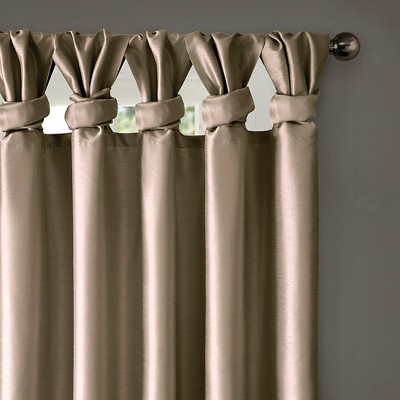 """Inspiration about Lillian Twisted Tab Lined Curtain Panel Taupe 50""""x95"""", Size With Twisted Tab Lined Single Curtain Panels (#9 of 50)"""
