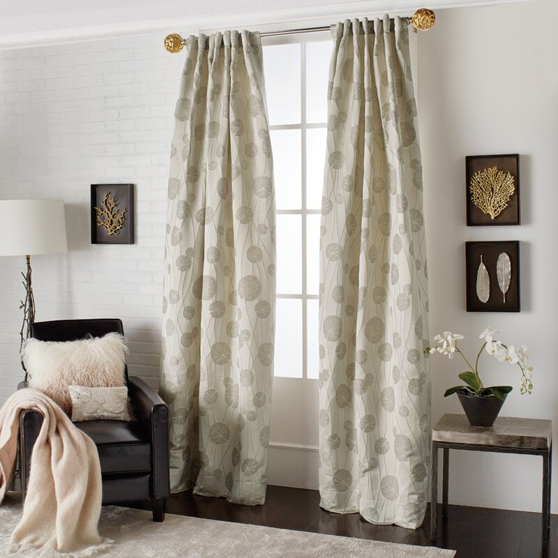 Inspiration about Lily Pad Floral Rod Pocket Curtain Panels Pertaining To Rod Pocket Curtain Panels (#8 of 34)