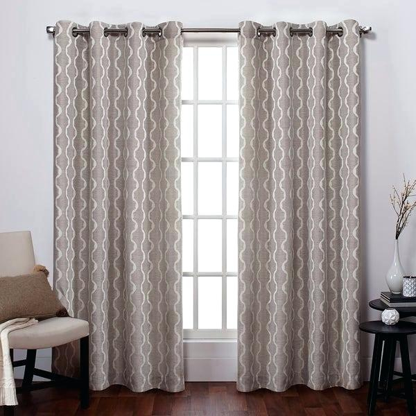 Inspiration about Linen Grommet Curtains – Newstrategy.co With Regard To Thermal Textured Linen Grommet Top Curtain Panel Pairs (#25 of 42)