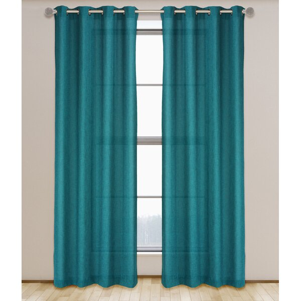Inspiration about Linen Look Drapes | Wayfair With Regard To Signature Extrawide Double Layer Sheer Curtain Panels (#30 of 50)