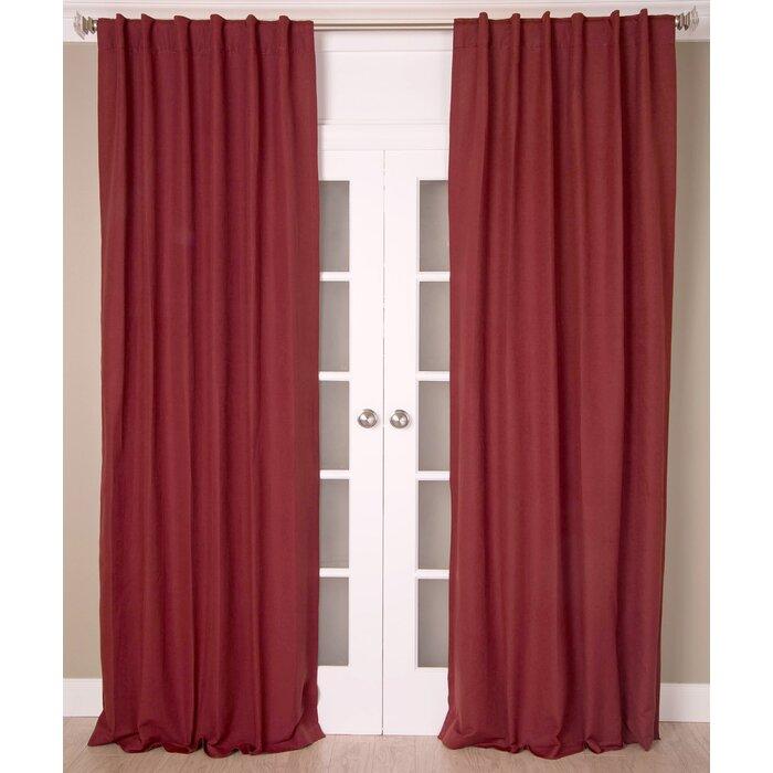 Linen Solid Room Darkening Rod Pocket Single Curtain Panel Regarding Hayden Rod Pocket Blackout Panels (View 25 of 43)