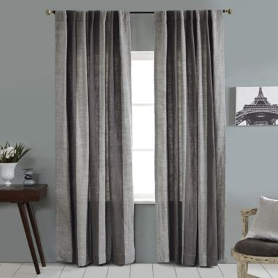 Linen Stripe Vertical Stripe Rod Pocket/back Tab Window In Ombre Stripe Yarn Dyed Cotton Window Curtain Panel Pairs (View 8 of 31)