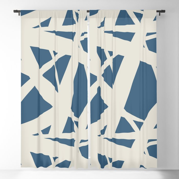 Inspiration about Linen White & Blue Abstract Mosaic Pattern 3 Pairs To 2020 Color Of The  Year Chinese Porcelain Blackout Curtainpipafineart Intended For Abstract Blackout Curtain Panel Pairs (#14 of 46)