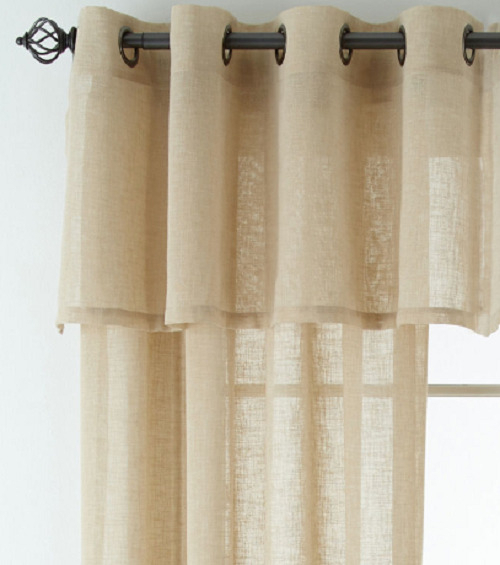 Linen Window Curtain 50W 63L Grommet Top Sheer Panel Inside Kochi Linen Blend Window Grommet Top Curtain Panel Pairs (View 22 of 36)