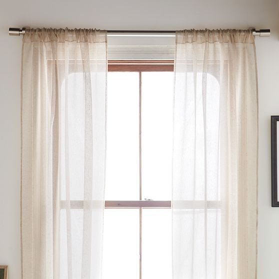 Linen Window Panels, Sheer Panel Curtains Short, Short Inside Tacoma Double Blackout Grommet Curtain Panels (View 27 of 48)