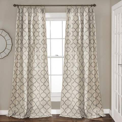 Linen Window Panels – Shopstyle Inside Knotted Tab Top Window Curtain Panel Pairs (#18 of 50)