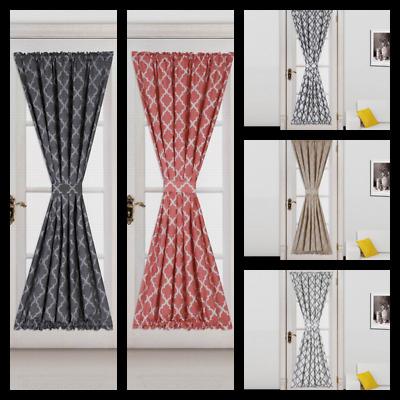 Liquidation Last Chance Limit Sale French Door Curtain Panel (No Tie Back)  Ella | Ebay With Ella Window Curtain Panels (View 26 of 50)