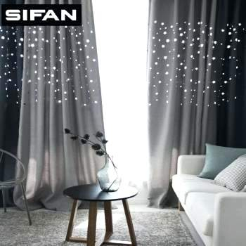 Living Room Blackout Curtains Colorful Striped Fashion High Intended For Star Punch Tulle Overlay Blackout Curtain Panel Pairs (#32 of 50)
