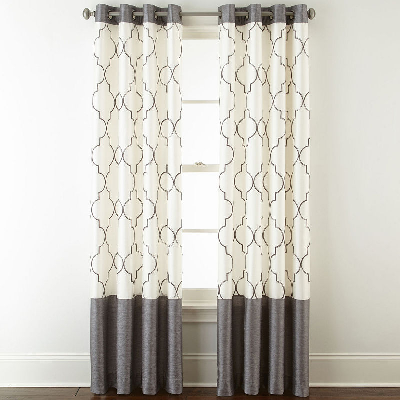 Popular Photo of Ombre Embroidery Curtain Panels