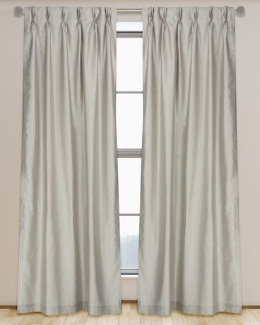 Lj Home Fashions Exquisite Lined Faux Silk Pinch Pleat Tab With Regard To Solid Cotton Pleated Curtains (#22 of 50)