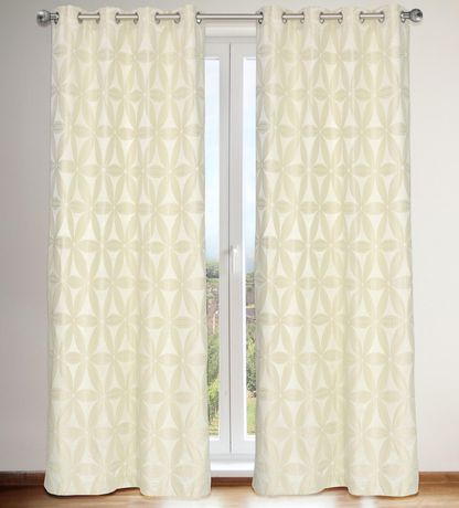 Lj Home Fashions Rita Faux Silk Privacy Lined Floral Grommet With Regard To Ofloral Embroidered Faux Silk Window Curtain Panels (View 4 of 50)