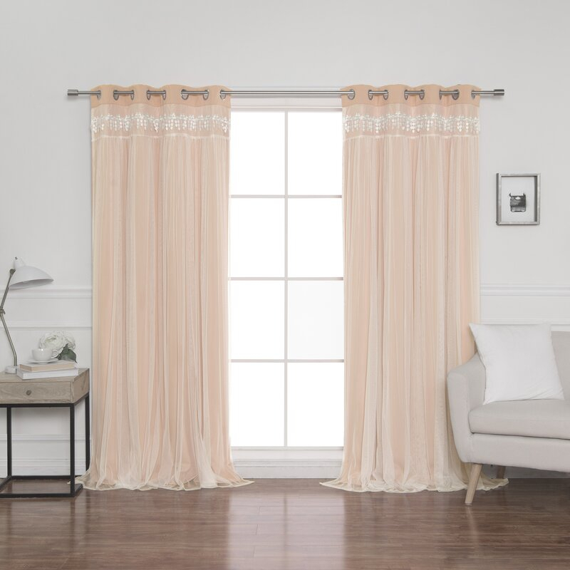 Loar Solid Blackout Thermal Grommet Curtain Panels With Regard To Grommet Curtain Panels (#27 of 39)