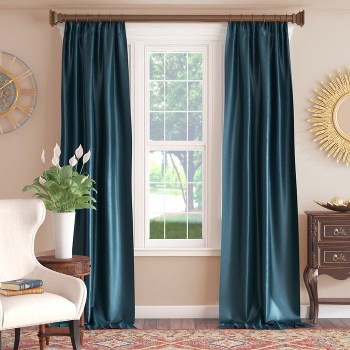 Lochleven Faux Silk Taffeta Solid Room Polyester Darkening For Solid Faux Silk Taffeta Graphite Single Curtain Panels (View 16 of 50)