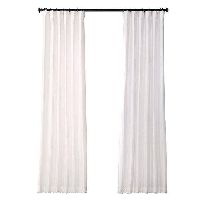 Lochleven Faux Silk Taffeta Solid Room Polyester Darkening Single Curtain Panel Inside Solid Faux Silk Taffeta Graphite Single Curtain Panels (View 8 of 50)