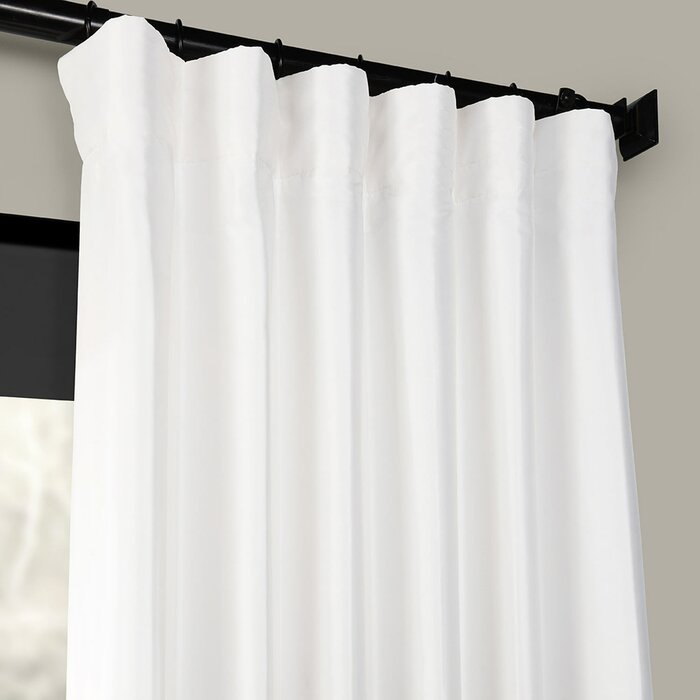 Lochleven Faux Silk Taffeta Solid Room Polyester Darkening Single Curtain  Panel Pertaining To Solid Faux Silk Taffeta Graphite Single Curtain Panels (#33 of 50)