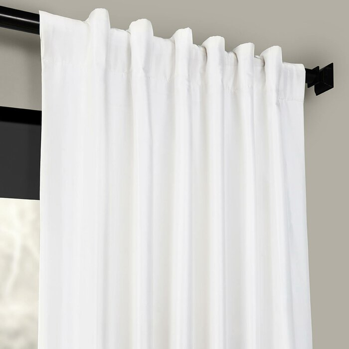 Lochleven Faux Silk Taffeta Solid Room Polyester Darkening Single Curtain Panel Pertaining To Solid Faux Silk Taffeta Graphite Single Curtain Panels (View 24 of 50)