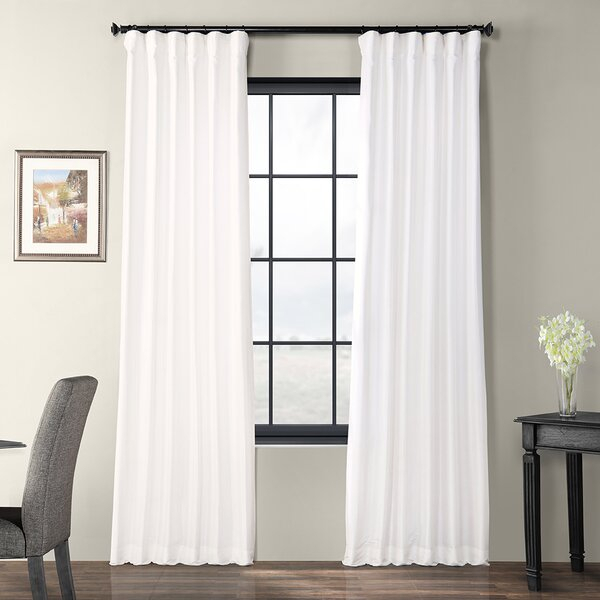 Lochleven Faux Silk Taffeta Solid Room Polyester Darkening Single Curtain  Panel Regarding Faux Silk Taffeta Solid Blackout Single Curtain Panels (View 35 of 50)