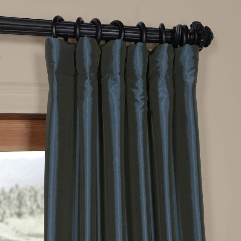 Lochleven Polyester Curtains | Windows 4 Me | Curtains Throughout Faux Silk Taffeta Solid Blackout Single Curtain Panels (View 38 of 50)