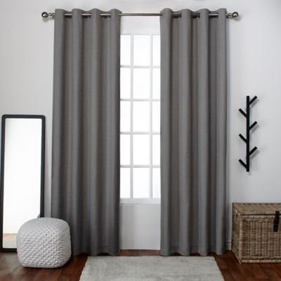 Inspiration about Loha 96 Inch Grommet Top Window Curtain Panel Pair In Black Throughout Luxury Collection Cranston Sheer Curtain Panel Pairs (#9 of 42)