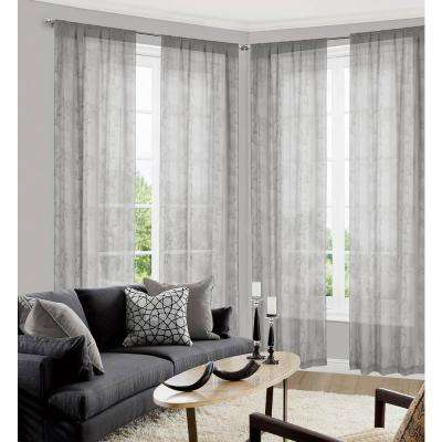 Inspiration about Lolita Grey Pole Top Panel Pair – 38 In. W X 84 In. L In (2 Piece) With Whitman Curtain Panel Pairs (#24 of 50)