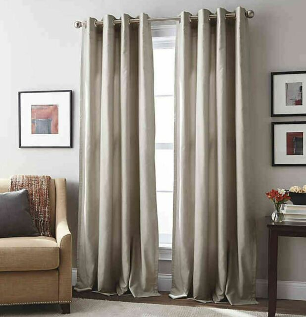 Inspiration about London 95 Inch Grommet Top Window Curtain Panel In Mushroom In London Blackout Panel Pair (#19 of 41)